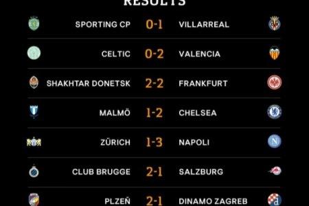 UEFA Avropa Liqasının on altıdabir final mərhələsinin ilk oyunlarına yekun vurulub - NƏTİCƏLƏR