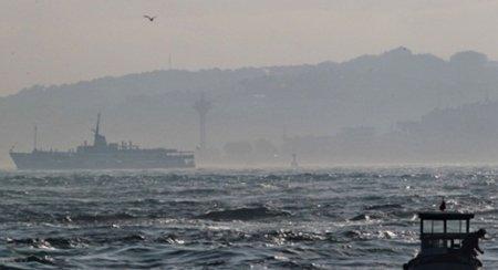 Qatı duman İstanbulda dəniz reyslərini saxladı
