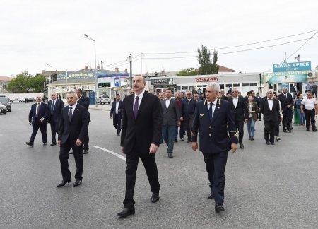 Prezident İlham Əliyev Sabunçu dəmir yolu vağzalı kompleksinin açılışında iştirak edib