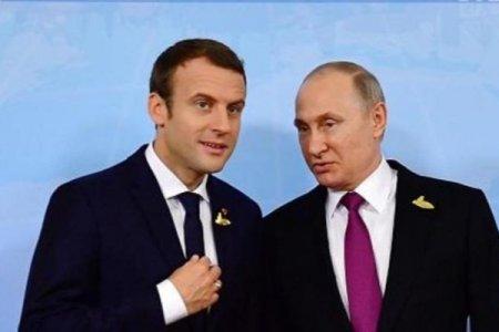 Makron açıq şəkildə Kiyevi Putinə satır – Sensasion iddia