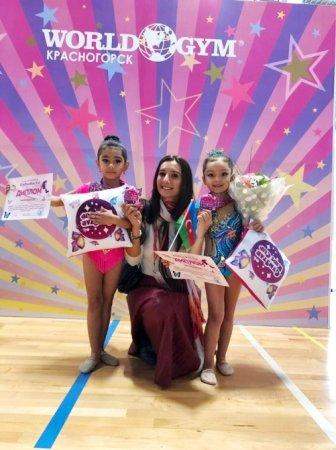 Paytaxt məktəbliləri gimnastika üzrə beynəlxalq turnirdən medalla qayıdıblar