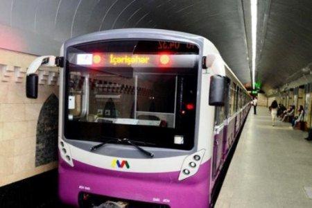 Bakı metrosunda problem - Qatar depoya göndərildi