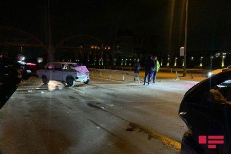 Bakı-Salyan şosesində 2 avtomobil toqquşub, xəsarət alan var