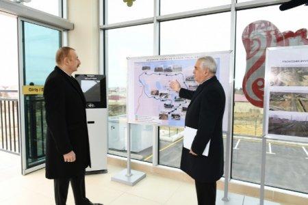 Prezident İlham Əliyev dəmir yolunun açılışında