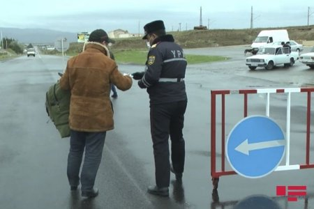 Şirvanda karantin rejimini pozan 60 sürücü və sərnişin cərimələndi