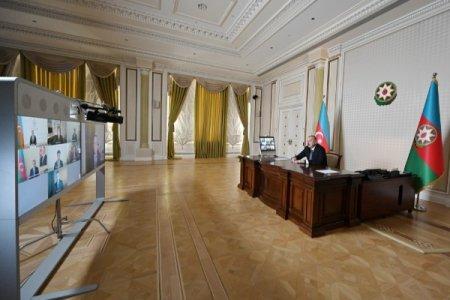 Prezident İlham Əliyevlə CISCO şirkətinin rəhbərləri arasında videokonfrans keçirilib