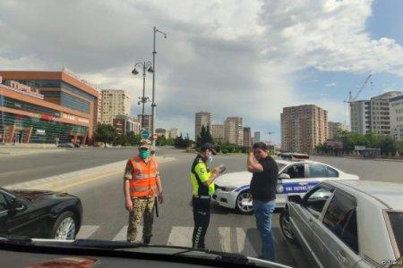 BDYPİ: Yollarda karantin qaydalarını pozan sürücülər saxlanılır