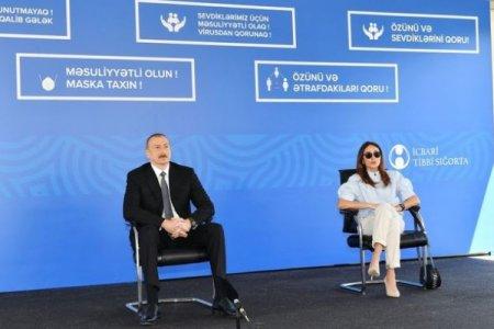Prezident və xanımı üç modul tipli xəstəxananın açılışında