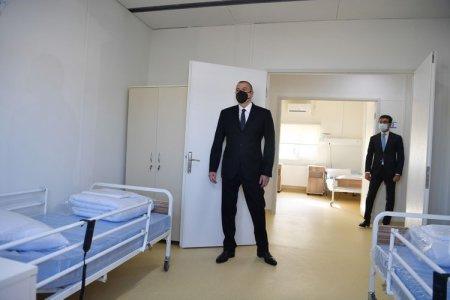 Prezident Qobustanda modul tipli xəstəxananın açılışını etdi