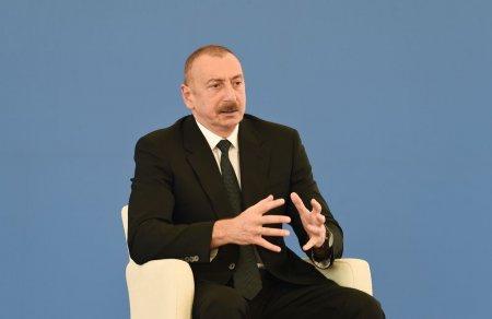 """Prezident İlham Əliyev: """"Qobu"""" Elektrik Stansiyasının tikintisi enerji potensialımızın gücləndirilməsi istiqamətində çox önəmli addımdır"""