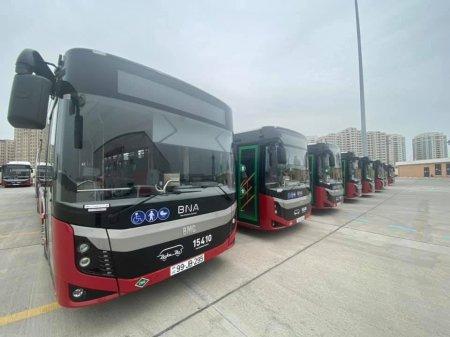 Bakıya yeni sərnişin avtobuslarının gətirilməsinə başlandı