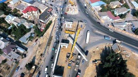 Sulutəpə dairəsində müxtəlif səviyyəli yol qovşağı inşa edilir