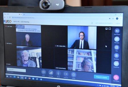 NATO Parlament Assambleyasının Təhlükəsizliyin Milli Ölçüsü Komitəsinin videokonfrans formatında iclası keçirildi
