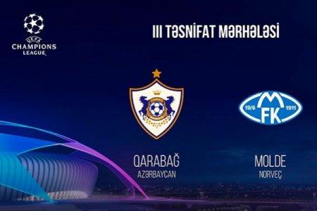 """""""Qarabağ"""" bu gün Norveçin """"Molde"""" komandası ilə qarşılaşacaq"""