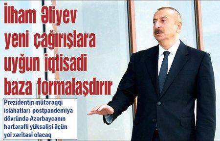 İlham Əliyev yeni çağırışlara uyğun iqtisadi baza formalaşdırır