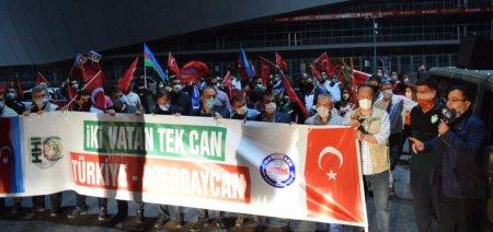 Eskişehirdə Azərbaycan dövlətinə dəstək aksiyası keçirilib