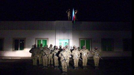 Laçında Azərbaycan bayrağı qaldırıldı - VİDEO