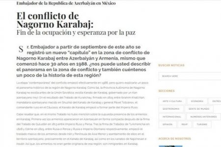 Meksikanın tanınmış jurnalı erməni təcavüzündən yazıb
