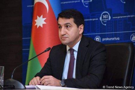 Ermənistanın minalanmış ərazilərlə bağlı məsuliyyətsiz davranışları ciddi şəkildə pislənməlidir - Hikmət Hacıyev