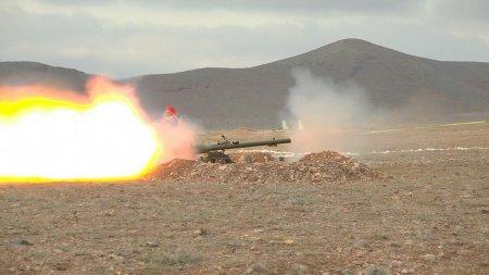 Əlahiddə Ümumqoşun Ordunun tank əleyhinə bölmələrində ixtisas toplantısı keçirilir