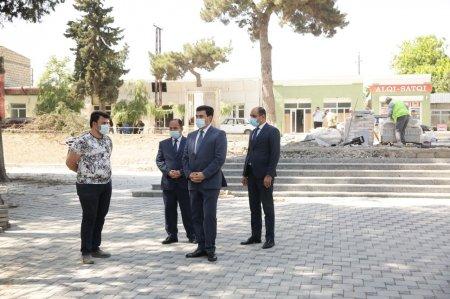 Xaçmaz rayonunda Zəfər parkı inşa edilir