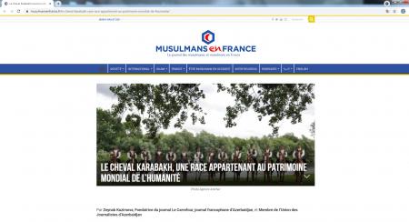 Azərbaycanlı jurnalist Fransa mediasında Qarabağ atlarından yazıb