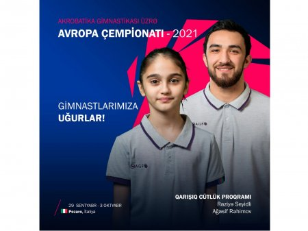 Azərbaycanlı gimnastlar İtaliyada Avropa çempionatında daha bir medal qazanıblar